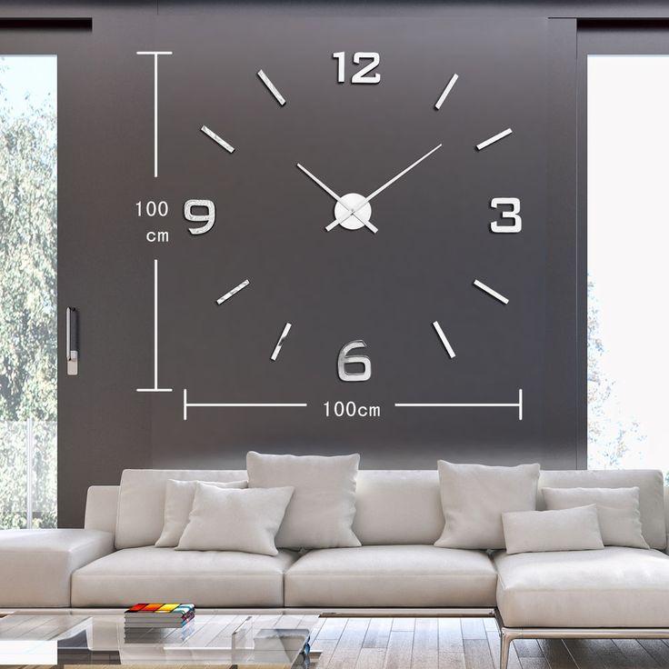 modern wall clock clocks horloges murales watch eva wall. Black Bedroom Furniture Sets. Home Design Ideas