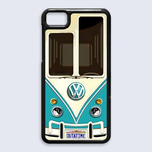 new VW volkswagen blue for blackberry Z10 case $16.89 #etsy #Accessories #Case #cover #CellPhone #BlackBerryZ10 #BlackBerryZ10case #BlackBerry #VW #volksawagen #minibus #VAN #capsule #car #retro #vintage #classic