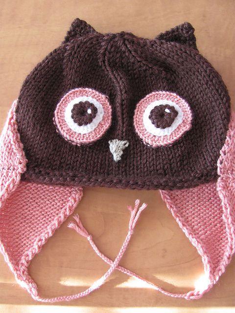 Owl Hat: free knitting pattern