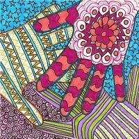 Khamsa - or Moroccan Good Luck Hand; doodles