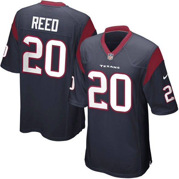 Nike Ed Reed Houston Texans Youth Game Jersey - Navy Blue - $20.99