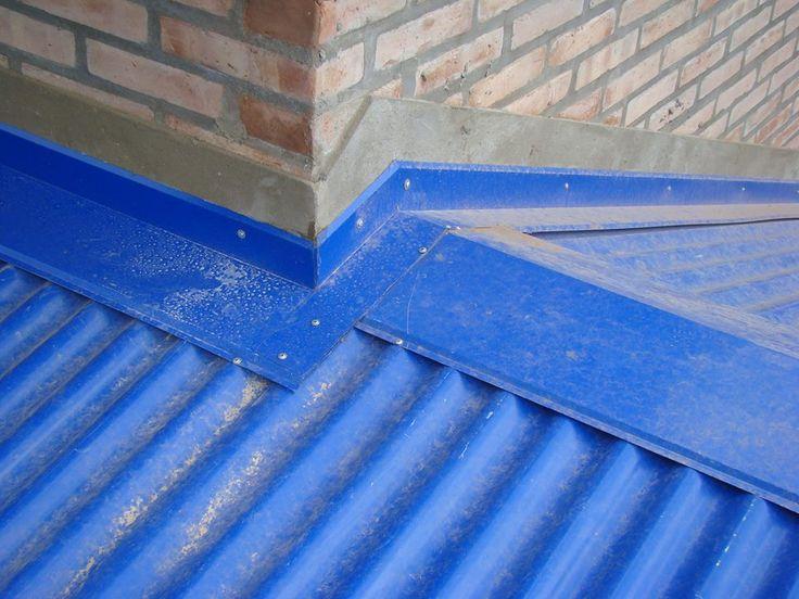Encuentro entre dos faldones de techo de chapa cumbrera for Modelos de techos de chapa