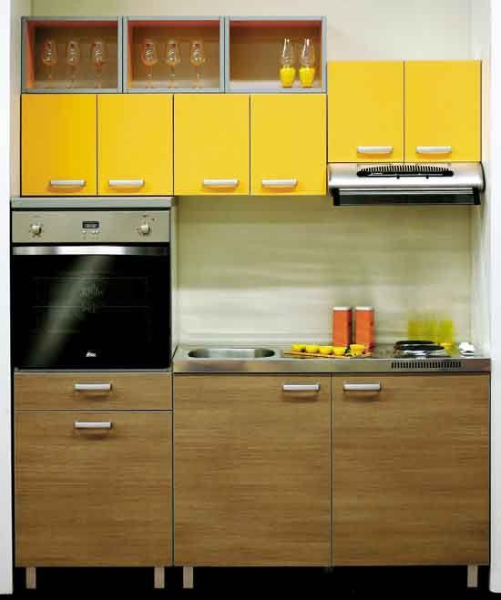 Compact modern kitchen.