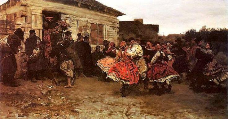 """Józef Chełmoński, """"Oberek, 1878."""