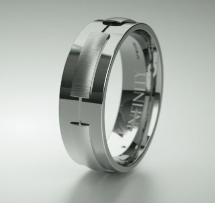Design 1581 is a unique and distinctly european mens ring that is perfect for he who enjoys style and substance. The ring, shown in #titanium will make the perfect gift being a hardy metal that lasts a lifetime. It is also available in #platinum #palladium #whitegold #yellowgold and #rosegold, view online in 360' at http://goo.gl/pAX7Cb. #mensrings #weddingrings #mensweddingband #dressrings #platinum #palladium #infinityrings #itsinfinity #gold