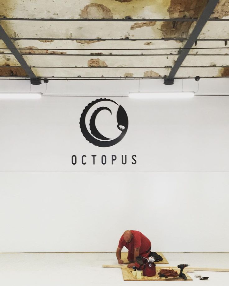 is ready! #octopus #octopuslodz #logo #dibond #gym #newgym #łódź #bjj…
