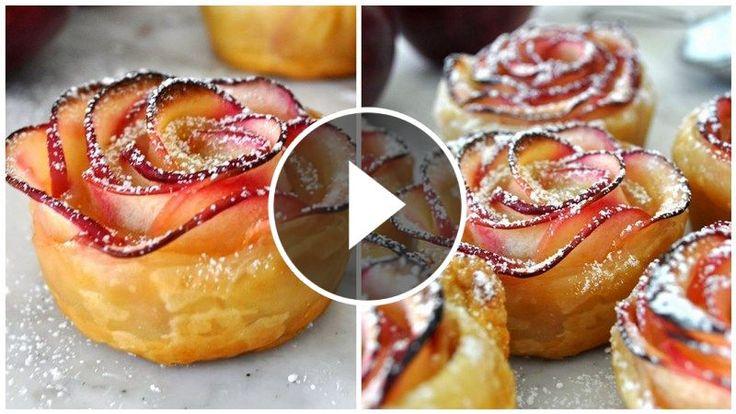 Ak chcete svojej rodine či hosťom dopriať dezert, ktorý nielen skvelo chutí, ale aj úžasne vyzerá, ruže z jablkových plátkov sú pre vás to pravé.
