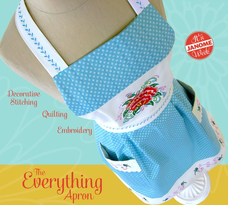 Janome Quilting Embroidery Designs : Janome Week: The Everything Apron: Embroidery, Decorative Stitching and Quilting Sew4Home ...