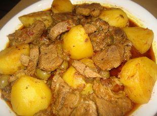 Cuban Beef and Potatoe Stew, Carne con Papas