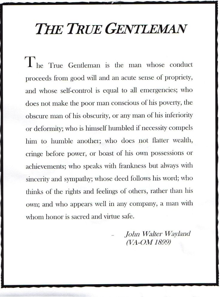 the true gentleman by john walter wayland