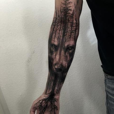 Tatuaże Wilk / Wolf Tattoo | Wzory tatuaży - największa galeria tatuaży. human-tattoo.com