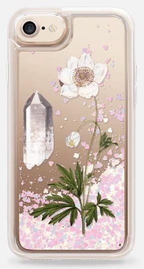 Glitter Healing Quartz iPhone Case by Fifikoussout on #casetify #Quartz #fifikoussout #iPhonecase #glittercase