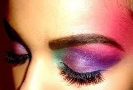 80's style make up