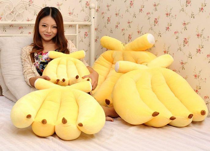 Bananas Shaped Pillow Cushion