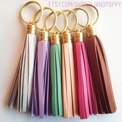 pjandcompany:  Preppy tassel keychains