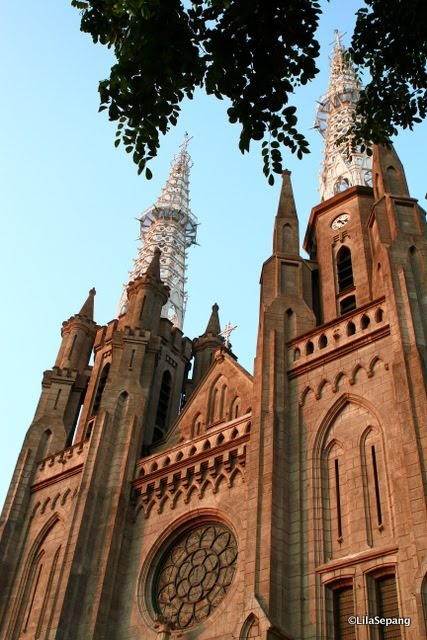 cathedral in jakarta, indonesia