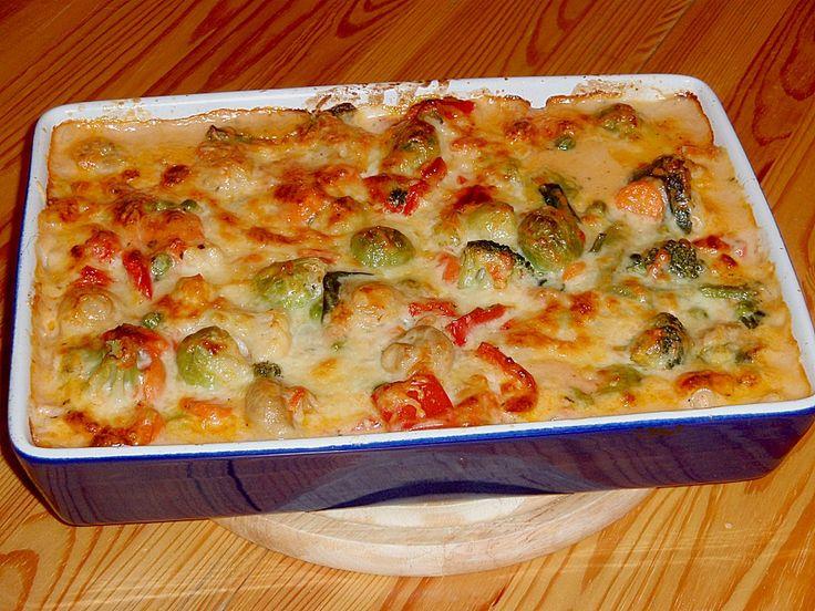 Chefkoch.de Rezept: Bunter Gemüseauflauf