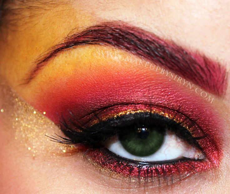 Dark Phoenix Inspired Look! (Phoenix Series Pt .1)  http://makeupbysiryn.com/2011/11/22/dark-phoenix-inspired-look/