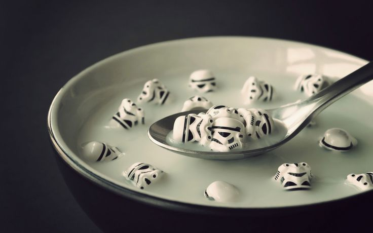 Storm Trooper Crunch by Chris McVeigh #Photography #Storm_Troopers #Star_Wars #Chris_McVeigh: Geek, Storm Troopers, Stars, Breakfast, Star Wars, Stormtroopers, Soup, Cereal, Starwars