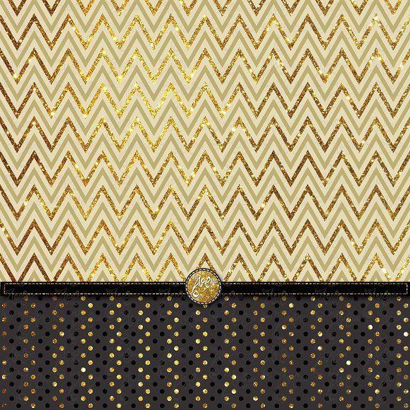 Gold Glitter Digital Paper Pack by YenzArtHaut on @creativemarket