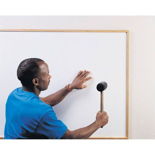 These Porcelain Whiteboard Sheets provide a quick, easy, and cost-effective way to create a new writing surface or resurface an older board. The 24 gauge porcelain-on-steel sheet can be applied directly to a wall or onto the face of worn boards. And thanks to its steel substrate, this Whiteboard Resurfacing Sheet accepts magnets and magnetic accessories to double as a pinless and tackless bulletin board.