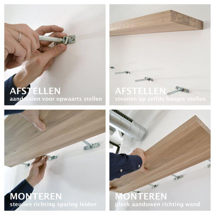 25 beste idee n over muur planken op pinterest planken muurplanken decoreren en slaapkamer - Hoe kleed je een witte muur ...