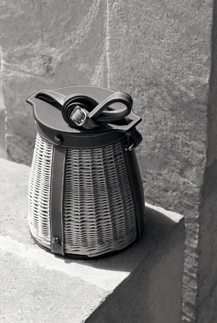 discount hermes bag - Herm��s - Vestiaire d\u0026#39;��t�� 2015. Farming picnic bag in wicker and ...