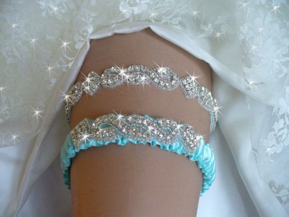 Garters Wedding Wedding Garter Tiffany by bridalambrosia on Etsy.  Something blue!!