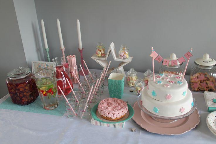 25 beste idee n over roze eerste verjaardag op pinterest de eerste meidenverjaardag baby - Blauwe turquoise decoratie ...