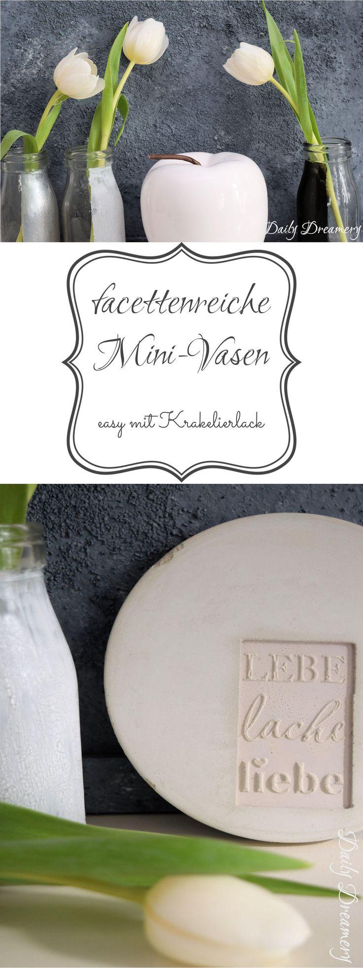 facettenreiche Mini-Vasen ganz easy mit Krakelierlack