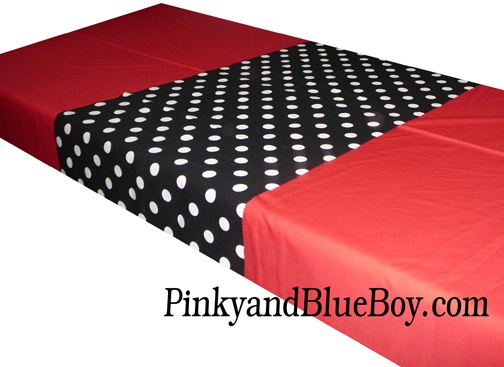Red Tablecloth Material Minnie Mouse Black And White  Part 91