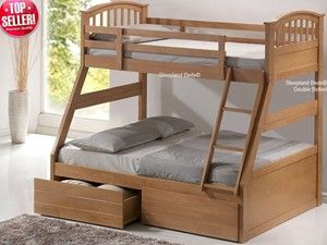Triple Bunk Beds | Cosmos Maple Triple Bunk