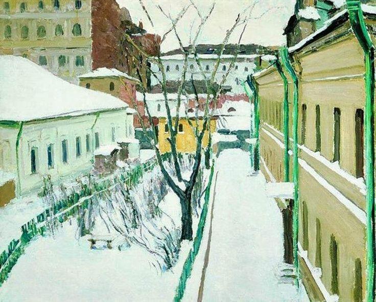 > Москва в рисунке >   Игорь  Грабарь Московский дворик, 1930
