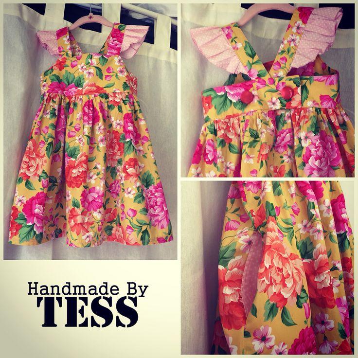 Handmade By Tess  BOO! Grace Dress!  Beautiful little girls floral dress!   Www.facebook.com/handmadebytess  Www.etsy.com/handmadebytessshop
