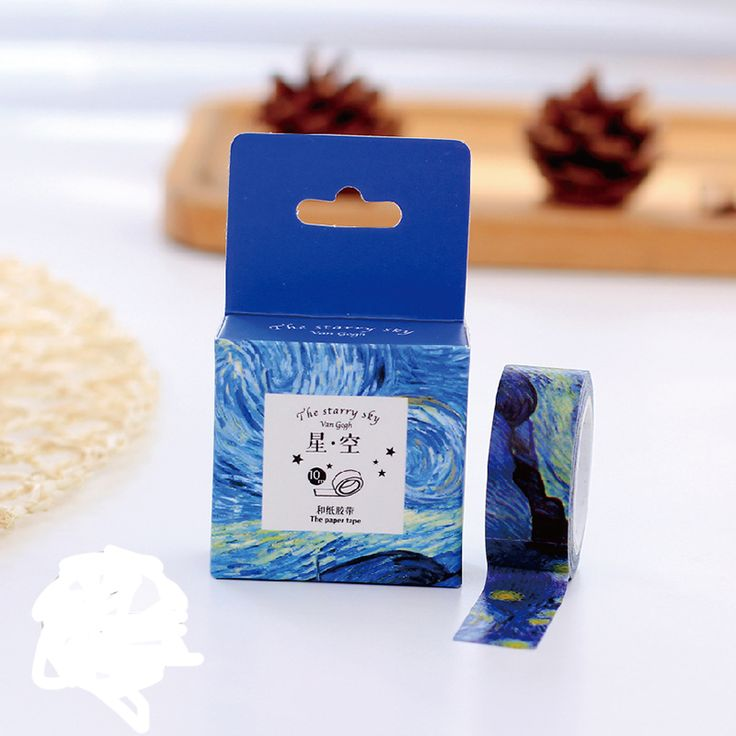1 pcs Size 15 mm*10m DIY Van Gogh painting paper washi tapes/masking tape/decorative adhesive tapes/School Supplies 27
