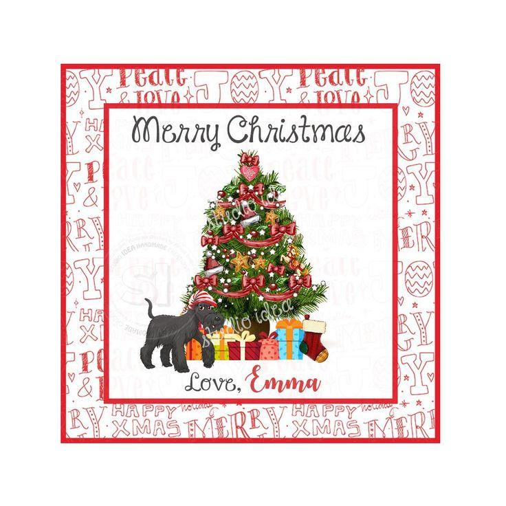 "Custom Christmas Printable 2.5'' Tags-Christmas Tree Wishes Personalized Tags-DIY (You Print) 2.5"" tags-Digital File"