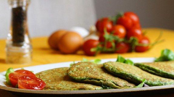 pancakes salati con spinaci e ricotta