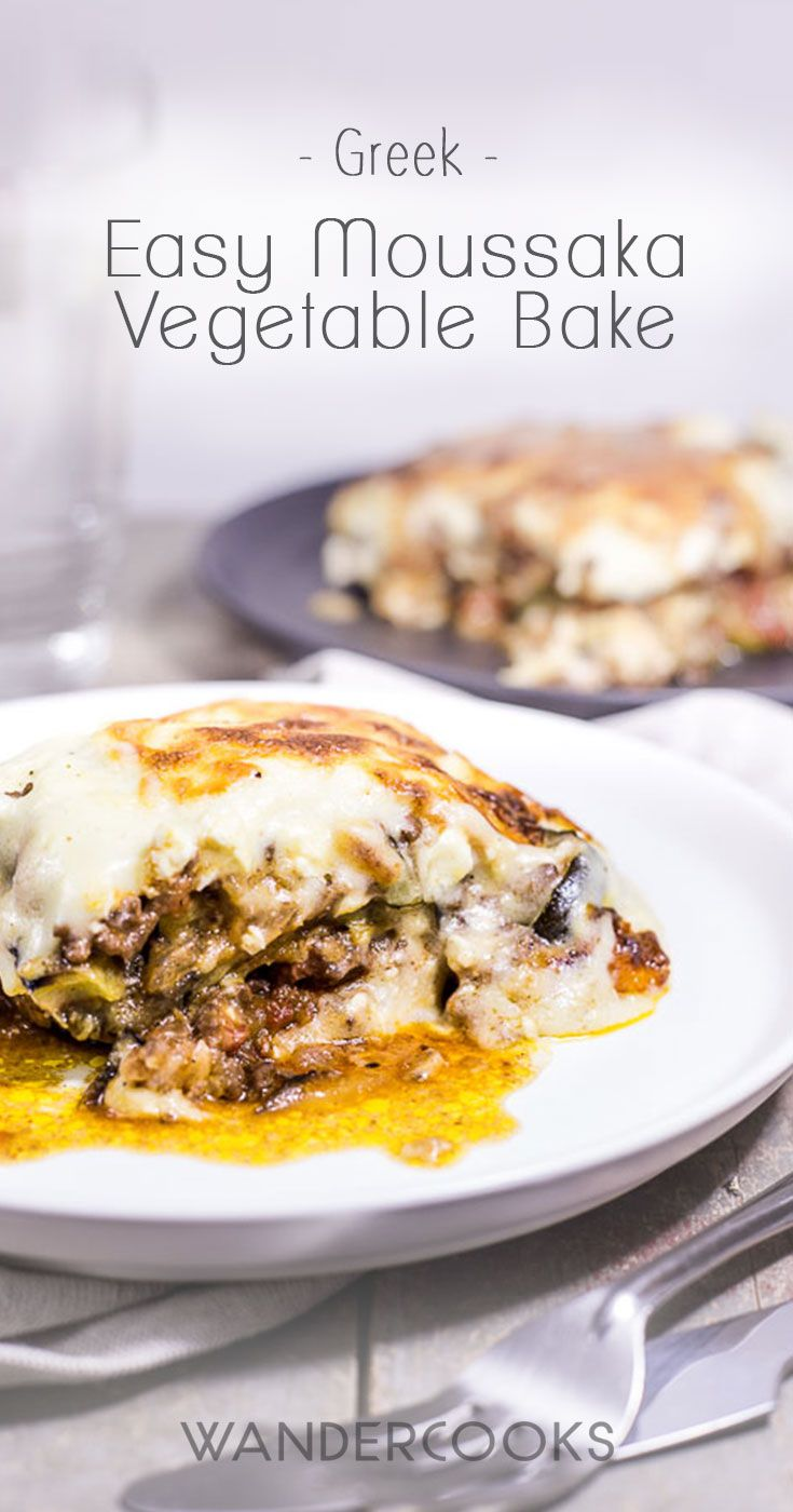 Easy Moussaka Greek Vegetable Bake via @wandercooks