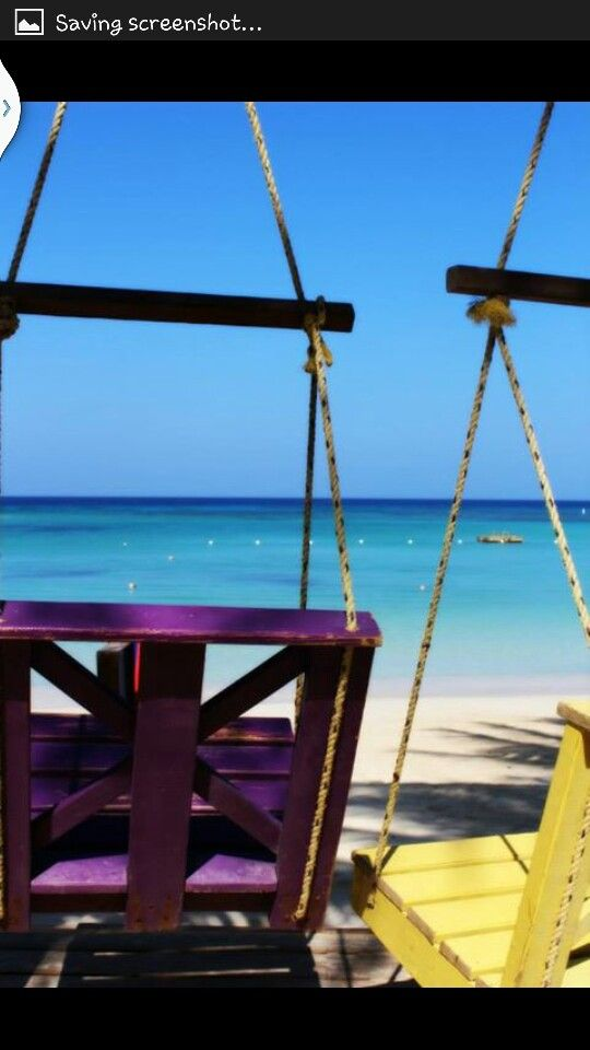 Ahhhh View from Bananarama...Roatan.   Be here in Feb.  Amy, just be careful on the swings!