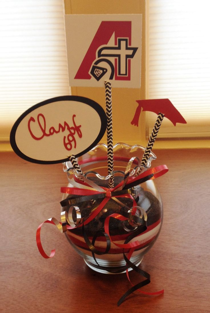 45th Class Reunion Table Decoration Made With A Cricut