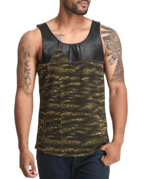 Love this Faux Leather - Trimmed Tank by Forte' on DrJays. Take a look and get 20% off your next order!