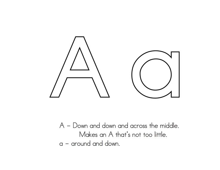 LETTER FORMATION -- simple poems about how to form each letter that we chanted off as we practiced.  For lower case letters I wrote an alliterative phrase.  pdf link for entire alphabet!