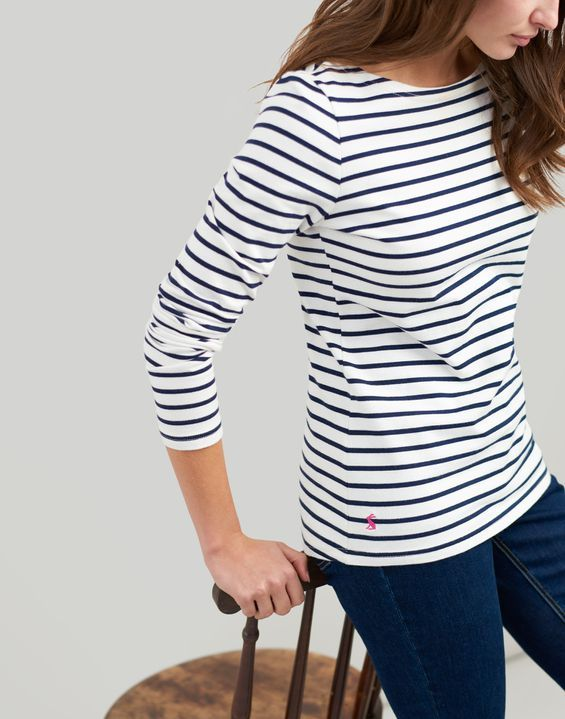 5693b507820 Harbour Jersey Top in 2019 | Breton | Striped jersey, Tops, Navy stripes
