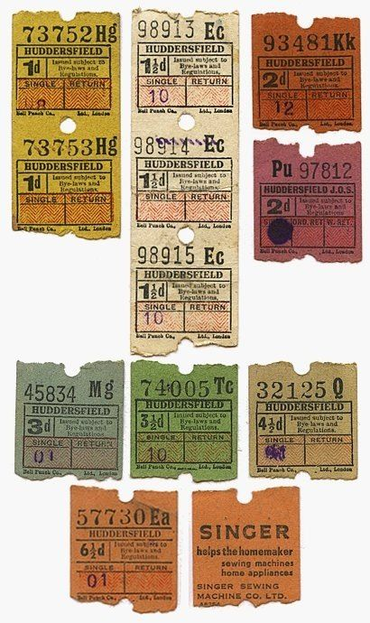 Old bus tickets