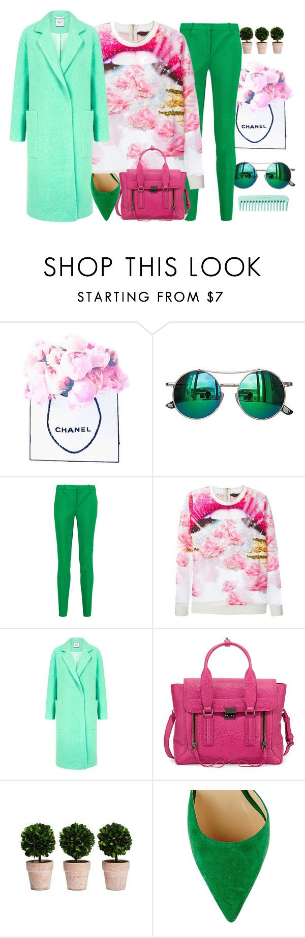 """pastel"" by iubescvara ❤ liked on Polyvore featuring Chanel, Chicnova Fashion, Emilio Pucci, Manish Arora, Edit, 3.1 Phillip Lim, Jimmy Choo, women's clothing, women's fashion and women"