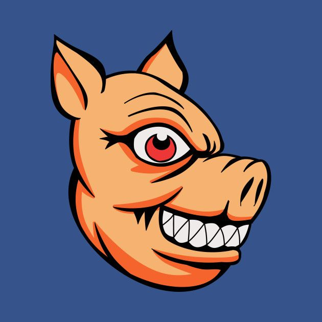 Check out this awesome 'Cool Evil Pig Head' design on ...