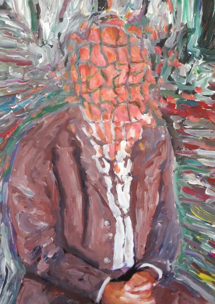 PAOLO AVANZI - Acrilico su tela. cm 40 x 30