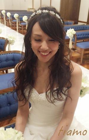 WDから鮮やかCDへチェンジ♡美人花嫁さまの素敵なWedding Style |大人可愛いブライダルヘアメイク『tiamo』の結婚カタログ