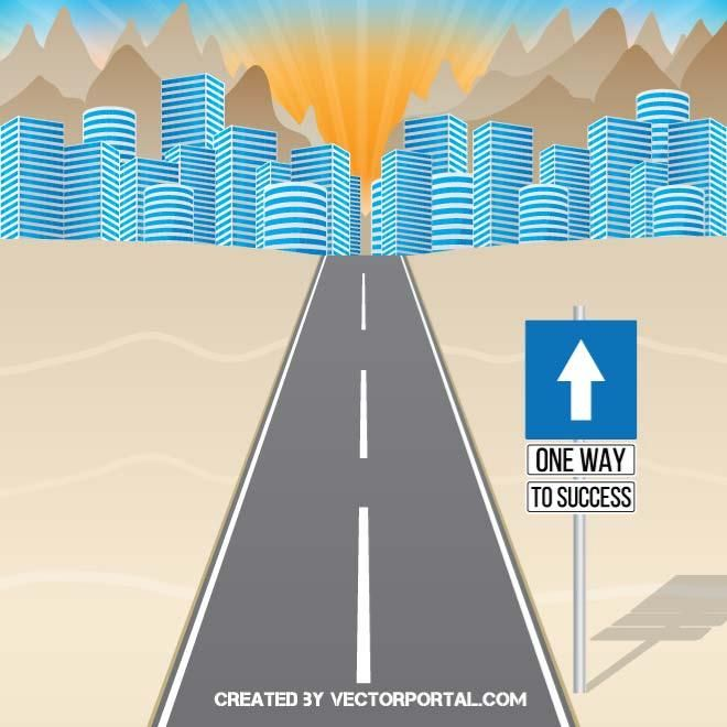 One way to success vector illustration.