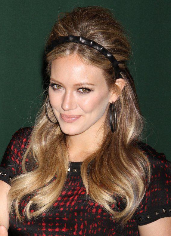 #HilaryDuff #Headband #Hairstyle